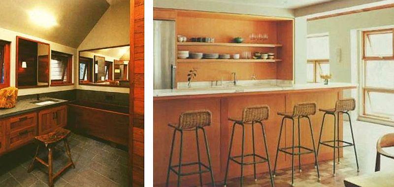 adelaparvu.com interior cu lemn reciclat, casa cu lemn si nuante de verde, tapet cu motive asiatice, design interior Dufner Heighes  (1)