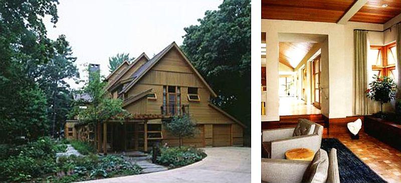 adelaparvu.com interior cu lemn reciclat, casa cu lemn si nuante de verde, tapet cu motive asiatice, design interior Dufner Heighes  (2)