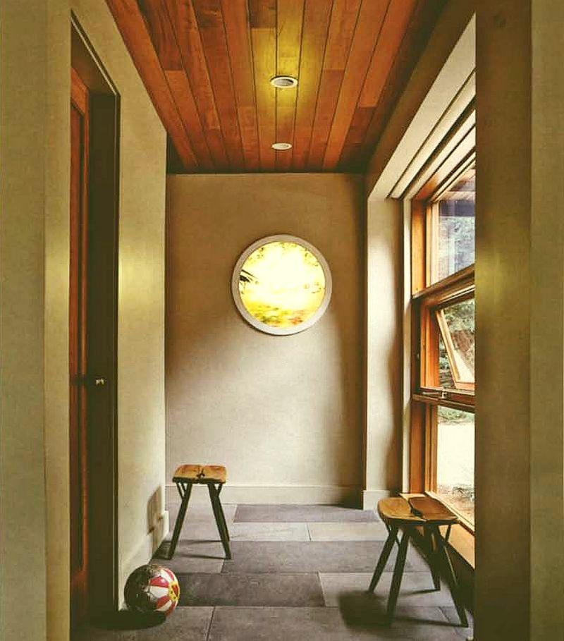 adelaparvu.com interior cu lemn reciclat, casa cu lemn si nuante de verde, tapet cu motive asiatice, design interior Dufner Heighes  (6)