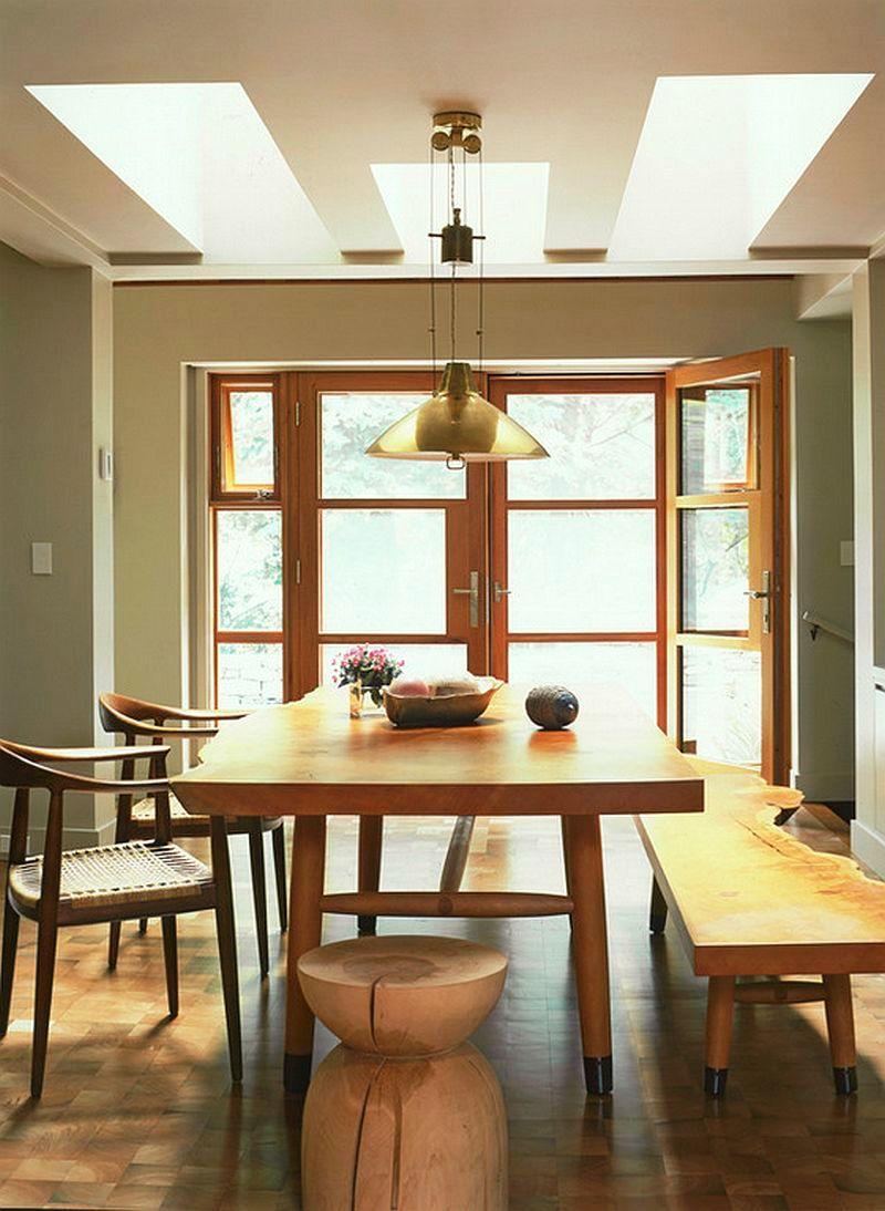 adelaparvu.com interior cu lemn reciclat, casa cu lemn si nuante de verde, tapet cu motive asiatice, design interior Dufner Heighes  (7)