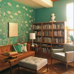 adelaparvu.com interior cu lemn reciclat, casa cu lemn si nuante de verde, tapet cu motive asiatice, design interior Dufner Heighes  (8)
