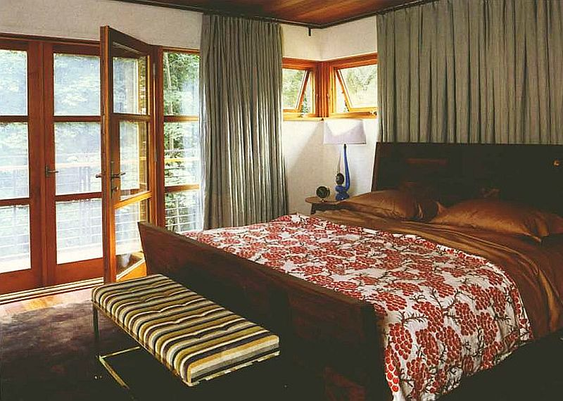 adelaparvu.com interior cu lemn reciclat, casa cu lemn si nuante de verde, tapet cu motive asiatice, design interior Dufner Heighes  (9)