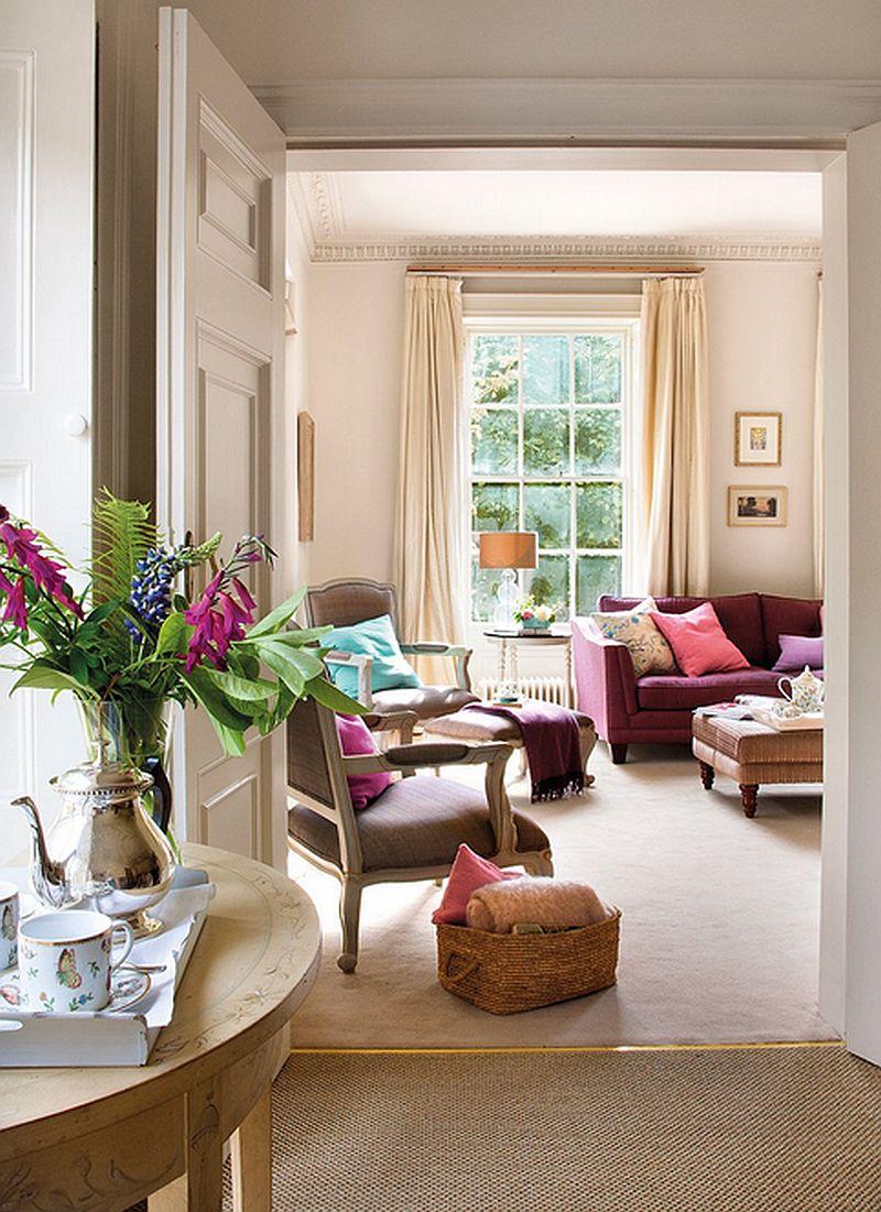 adelparvu.com despre casa colorata cu textile, casa Anglia in stil georgian, Foto ElMueble (4)