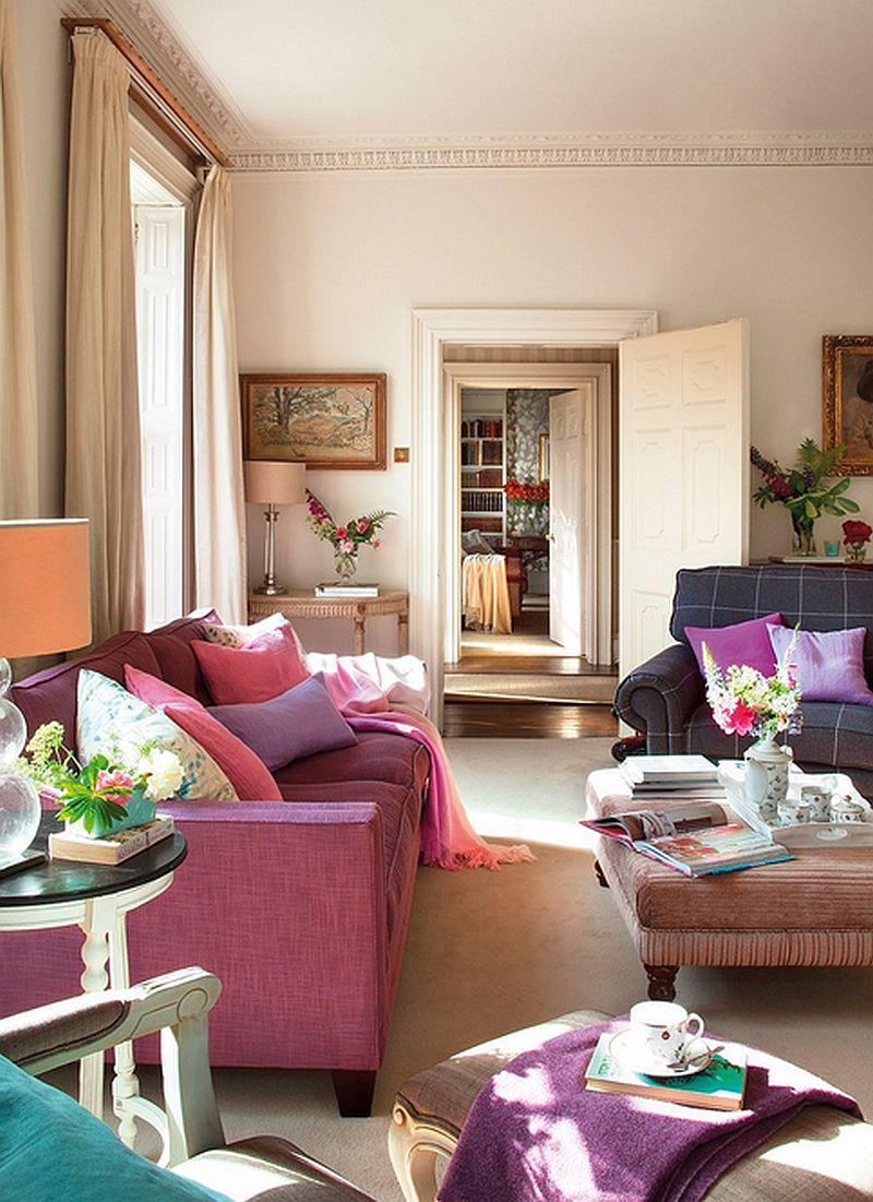 adelparvu.com despre casa colorata cu textile, casa Anglia in stil georgian, Foto ElMueble (5)