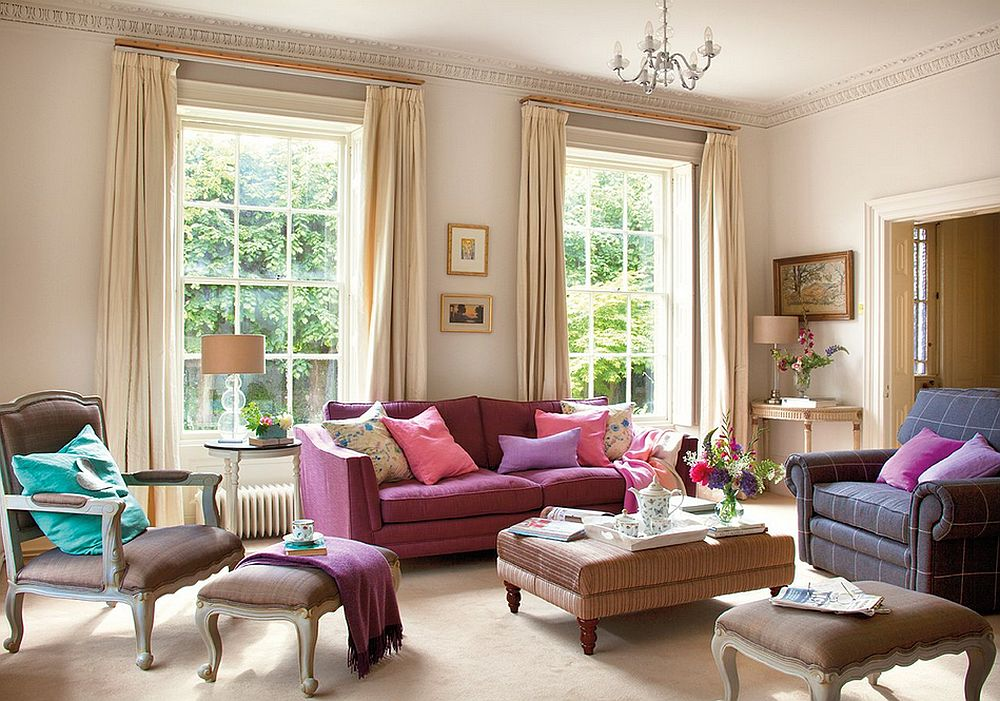 adelparvu.com despre casa colorata cu textile, casa Anglia in stil georgian, Foto ElMueble (6)
