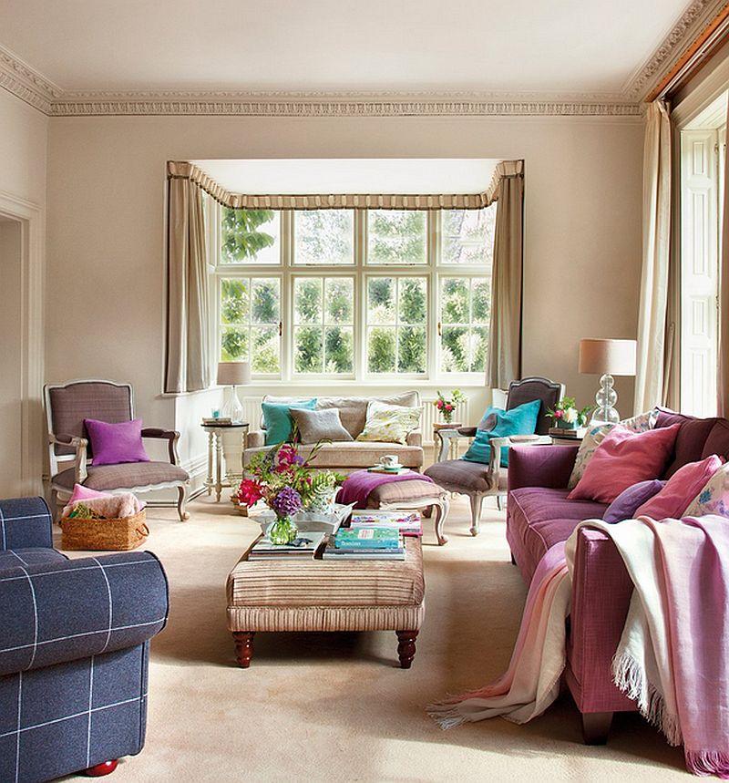 adelparvu.com despre casa colorata cu textile, casa Anglia in stil georgian, Foto ElMueble (7)