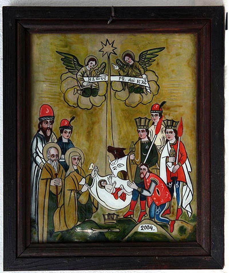 adelaparvu.com despre Corina Petculesc, Dragos Petculescu, mobila traditionala pictata, icoane ortodoxe pictate pe sticla si lemn (28)