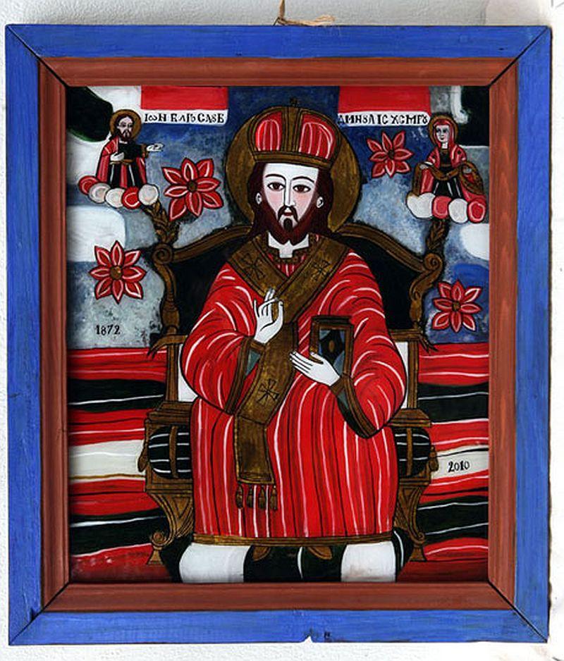 adelaparvu.com despre Corina Petculesc, Dragos Petculescu, mobila traditionala pictata, icoane ortodoxe pictate pe sticla si lemn (30)