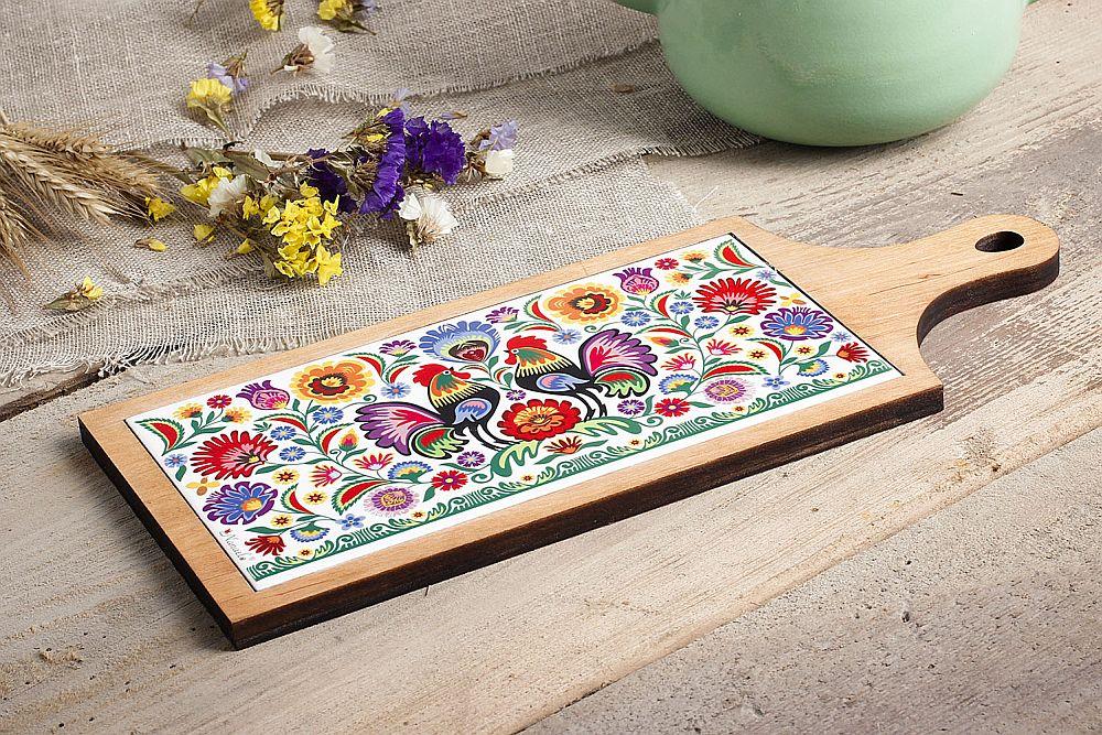 adelaparvu.com despre accesorii de masa colorate, servetele de hartie si suporturi de masa cu motive traditionale poloneze Łowicz (1)