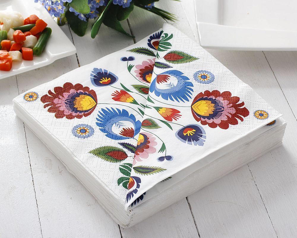 adelaparvu.com despre accesorii de masa colorate, servetele de hartie si suporturi de masa cu motive traditionale poloneze Łowicz (13)