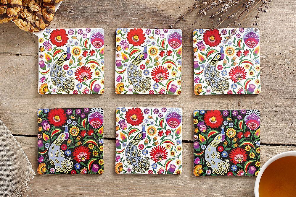 adelaparvu.com despre accesorii de masa colorate, servetele de hartie si suporturi de masa cu motive traditionale poloneze Łowicz (7)