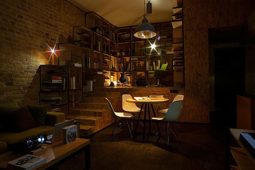 adelaparvu.com despre amenajare apartament de doua camere, mobila cu OSB, concept Constant Motion, arhitect AlexBykov (15)