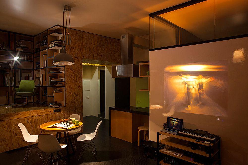 adelaparvu.com despre amenajare apartament de doua camere, mobila cu OSB, concept Constant Motion, arhitect AlexBykov (16)