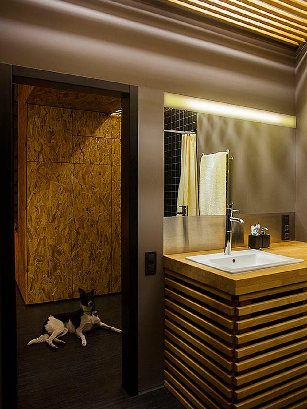 adelaparvu.com despre amenajare apartament de doua camere, mobila cu OSB, concept Constant Motion, arhitect AlexBykov (18)