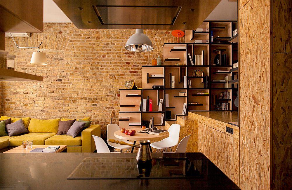adelaparvu.com despre amenajare apartament de doua camere, mobila cu OSB, concept Constant Motion, arhitect AlexBykov (3)