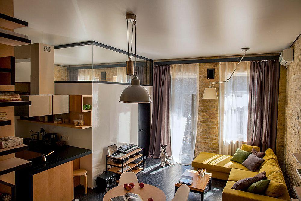 adelaparvu.com despre amenajare apartament de doua camere, mobila cu OSB, concept Constant Motion, arhitect AlexBykov (4)