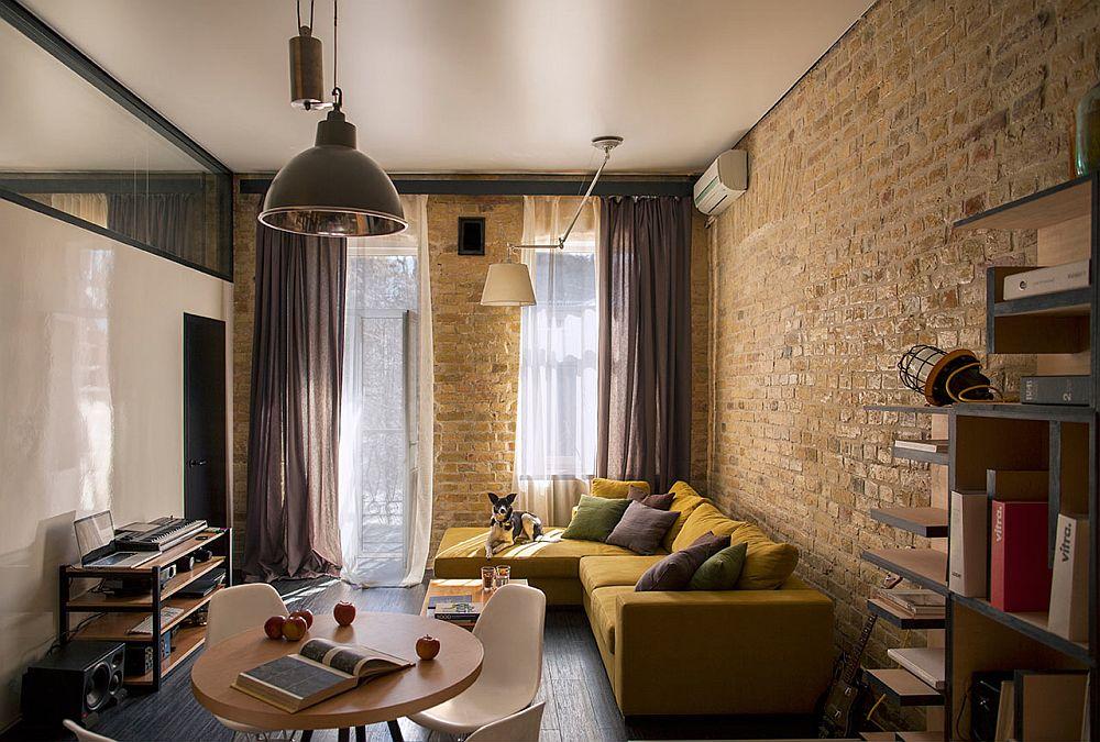 adelaparvu.com despre amenajare apartament de doua camere, mobila cu OSB, concept Constant Motion, arhitect AlexBykov (5)