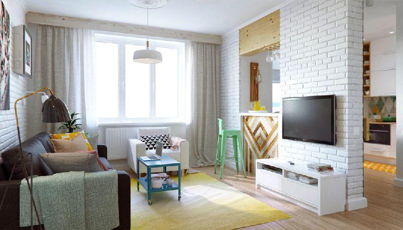 adelaparvu.com despre amenajare ingenioasa apartament doua camere de 45 mp, arhitectura InteriorNI (1)