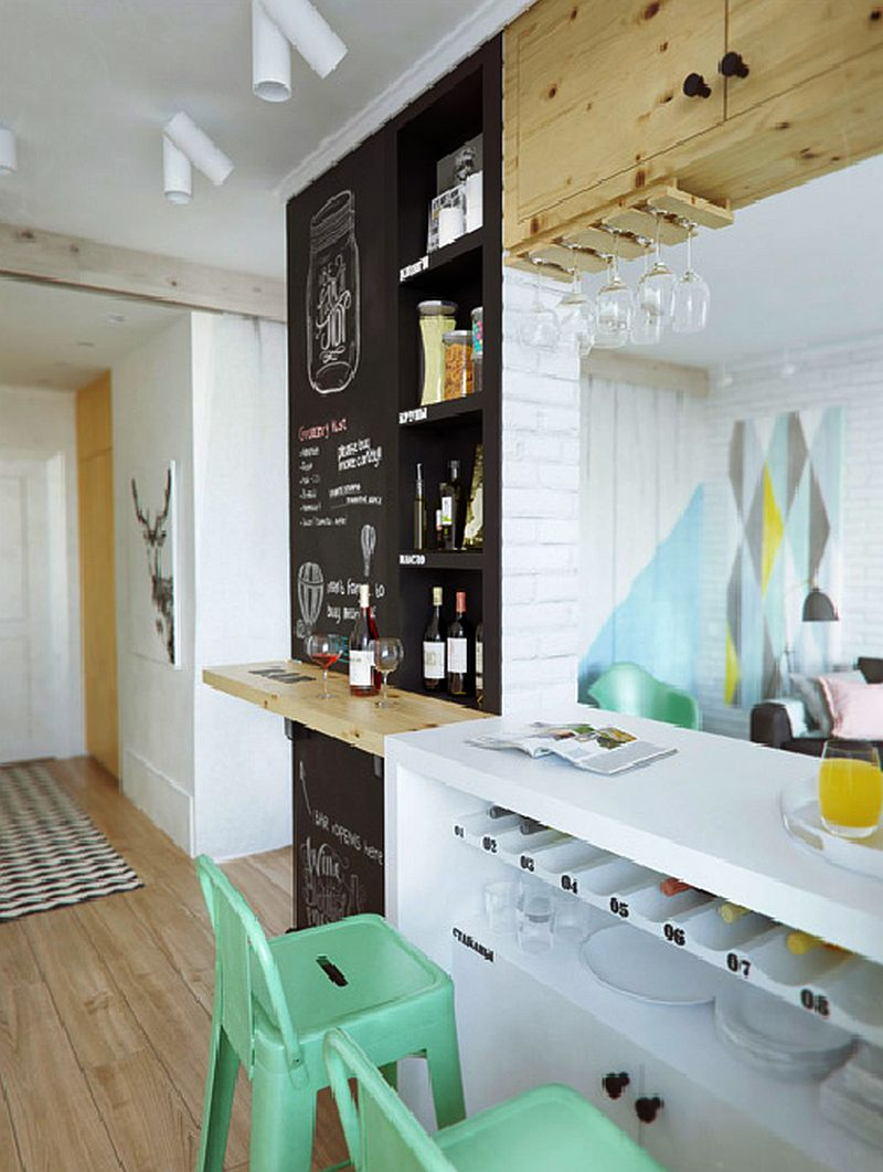 adelaparvu.com despre amenajare ingenioasa apartament doua camere de 45 mp, arhitectura InteriorNI (10)