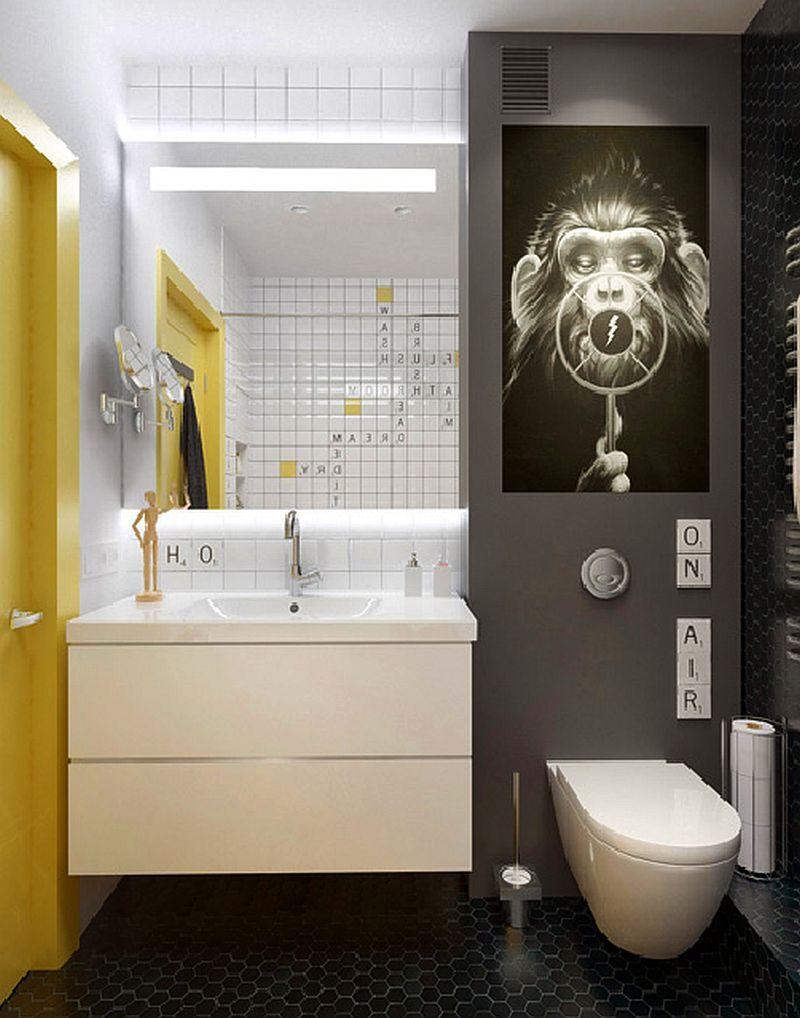 adelaparvu.com despre amenajare ingenioasa apartament doua camere de 45 mp, arhitectura InteriorNI (14)