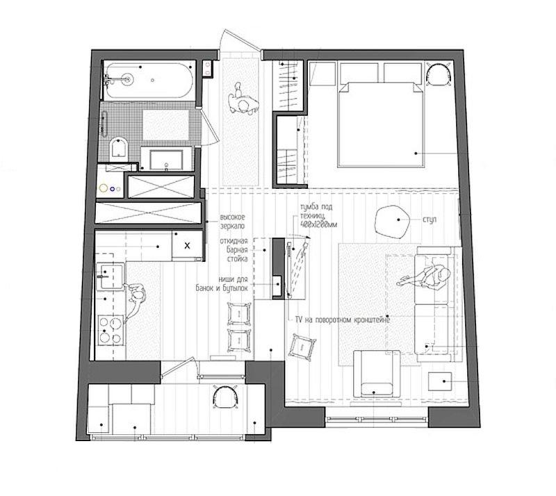 Planul locuintei dupa reamenajare