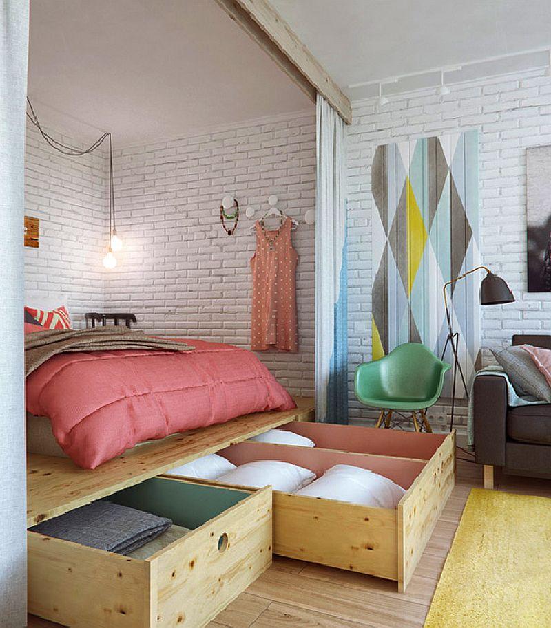 adelaparvu.com despre amenajare ingenioasa apartament doua camere de 45 mp, arhitectura InteriorNI (4)