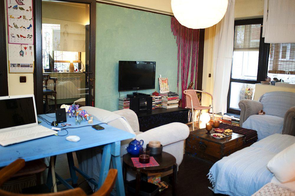 adelaparvu.com despre apartament boem de doua camere Bucuresti, designer Mihaela Poenaru, Foto Dragos Boldea (6)