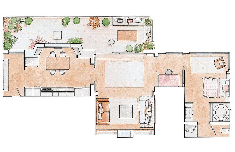 adelaparvu.com despre apartament de doua camere, 70 mp, terasa la bloc, Foto ElMueble (9)
