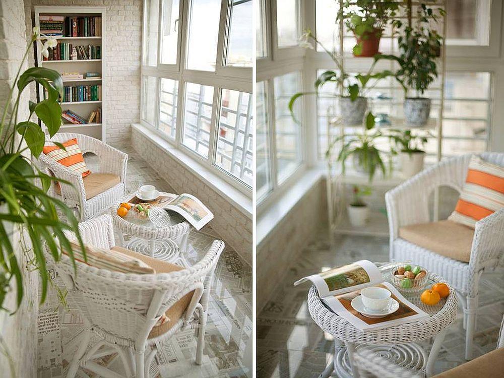 adelaparvu.com despre balcon la bloc, amenajare eleganta balcon, designer Kati Chistovoy, Foto AD Russia