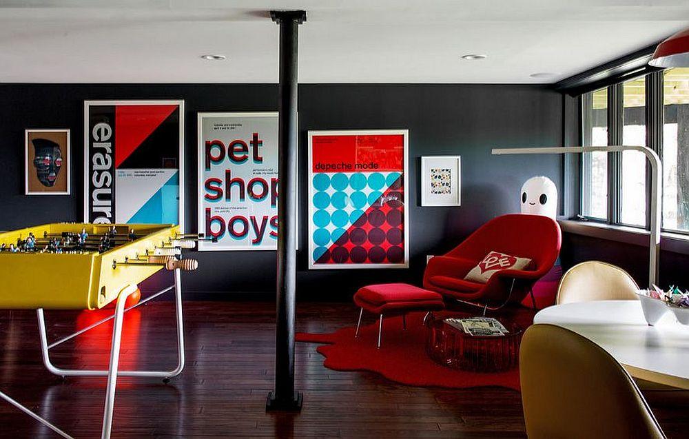 adelaparvu.com despre cabana cu interior colorat si piese de design, casa americana, designer Bradford Shellhammer, Foto Trevor Tondro (10)