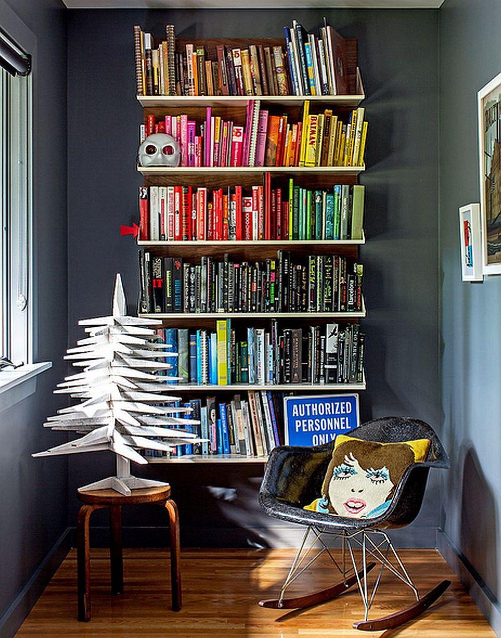 adelaparvu.com despre cabana cu interior colorat si piese de design, casa americana, designer Bradford Shellhammer, Foto Trevor Tondro (12)