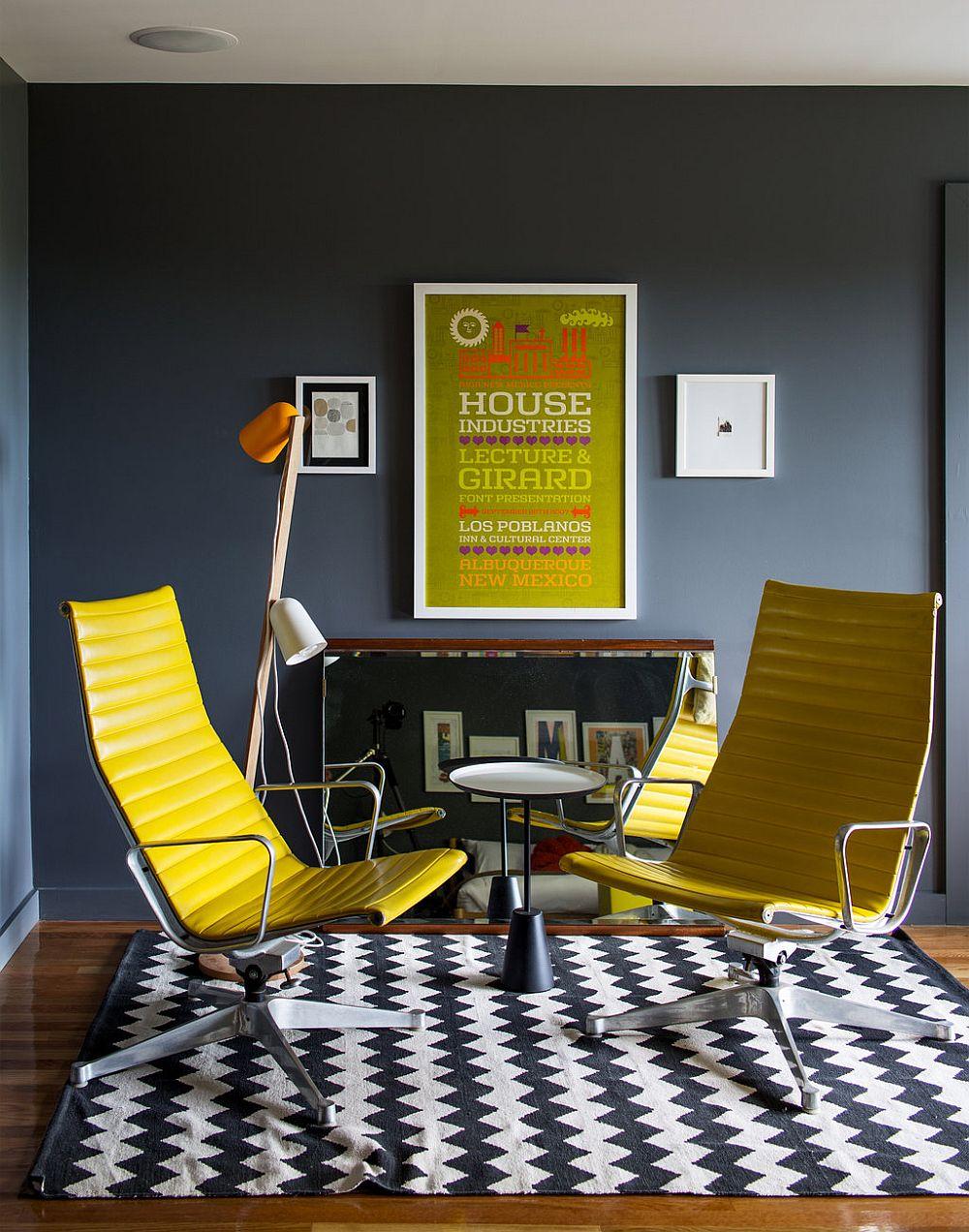 adelaparvu.com despre cabana cu interior colorat si piese de design, casa americana, designer Bradford Shellhammer, Foto Trevor Tondro (16)