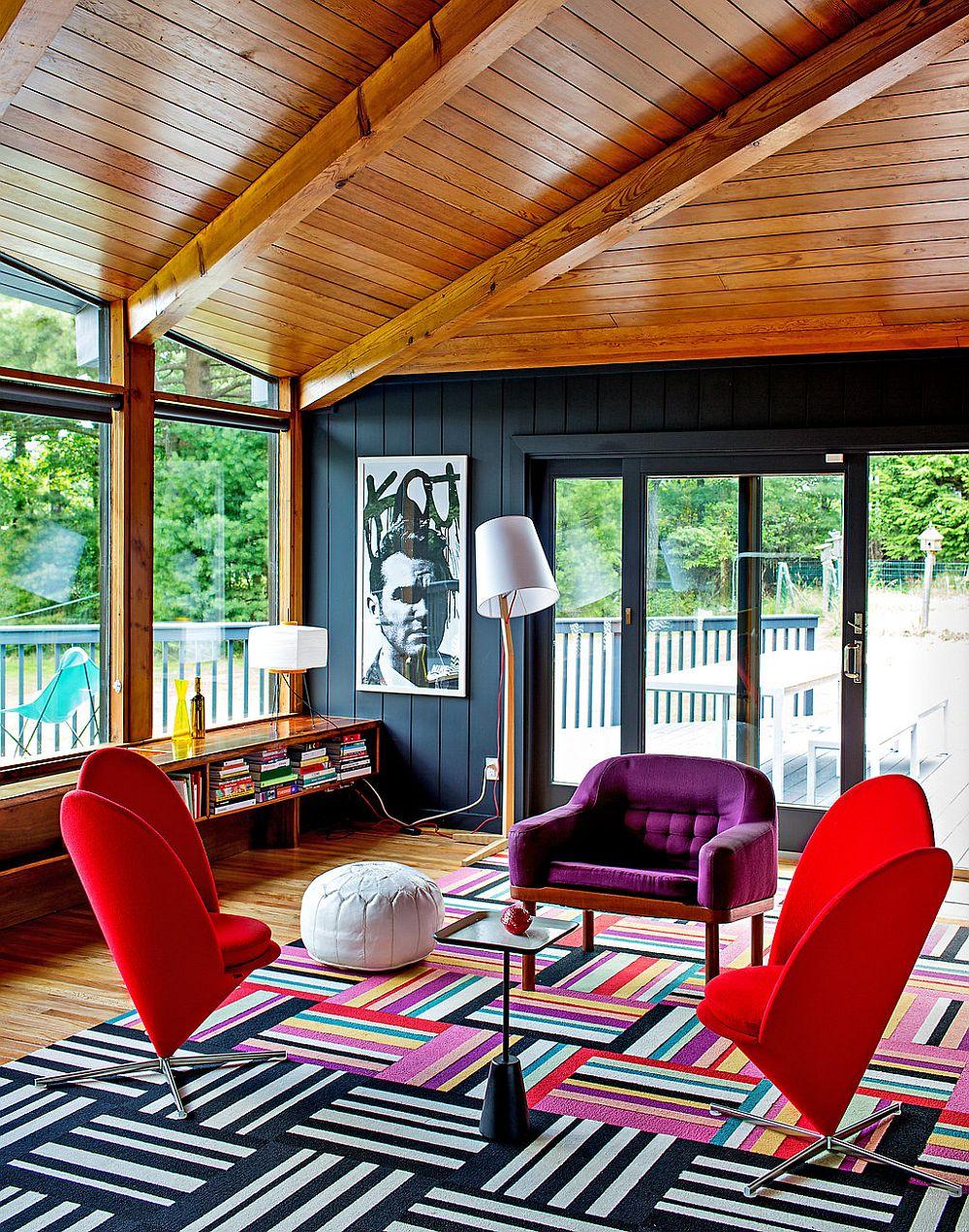 adelaparvu.com despre cabana cu interior colorat si piese de design, casa americana, designer Bradford Shellhammer, Foto Trevor Tondro (18)