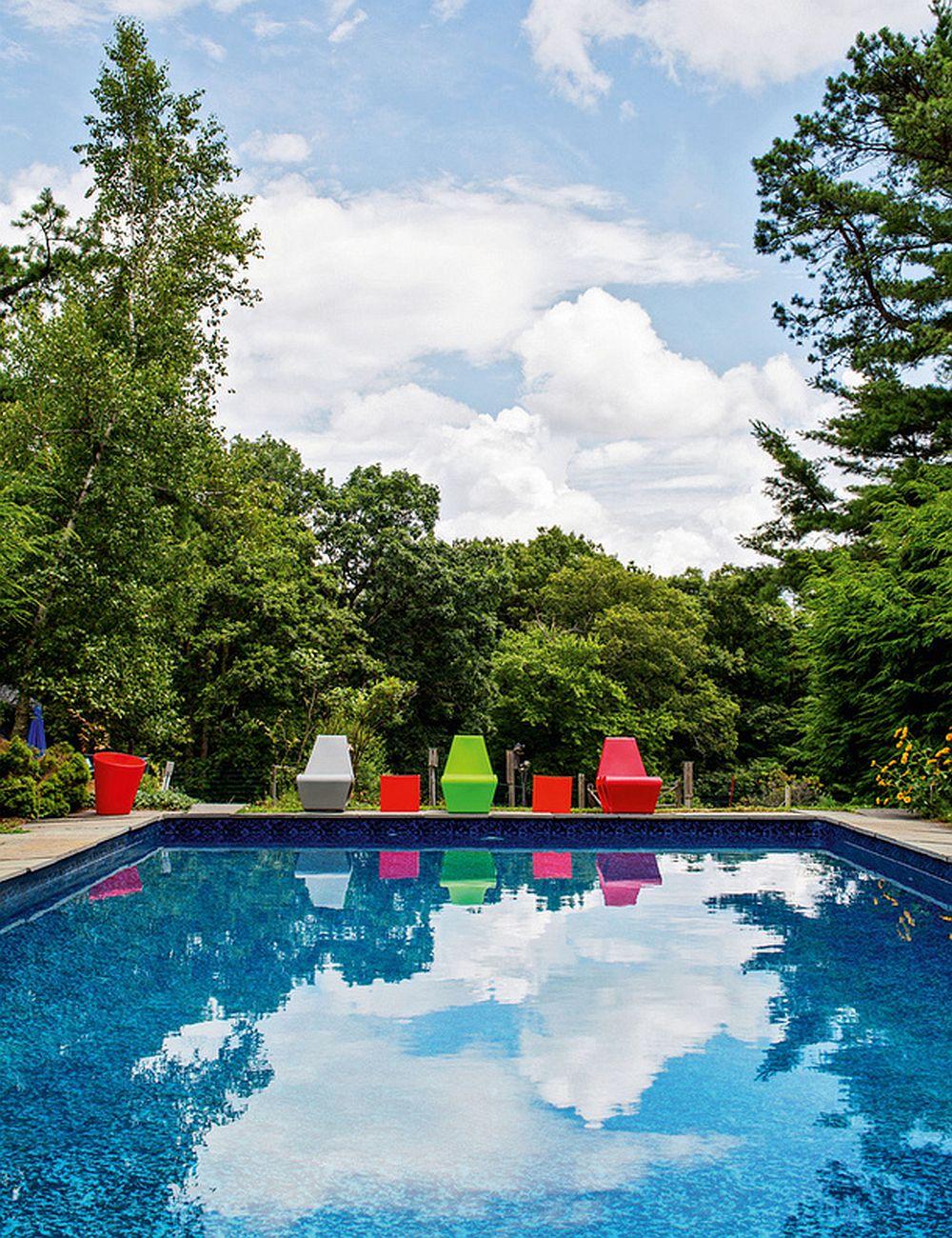adelaparvu.com despre cabana cu interior colorat si piese de design, casa americana, designer Bradford Shellhammer, Foto Trevor Tondro (3)