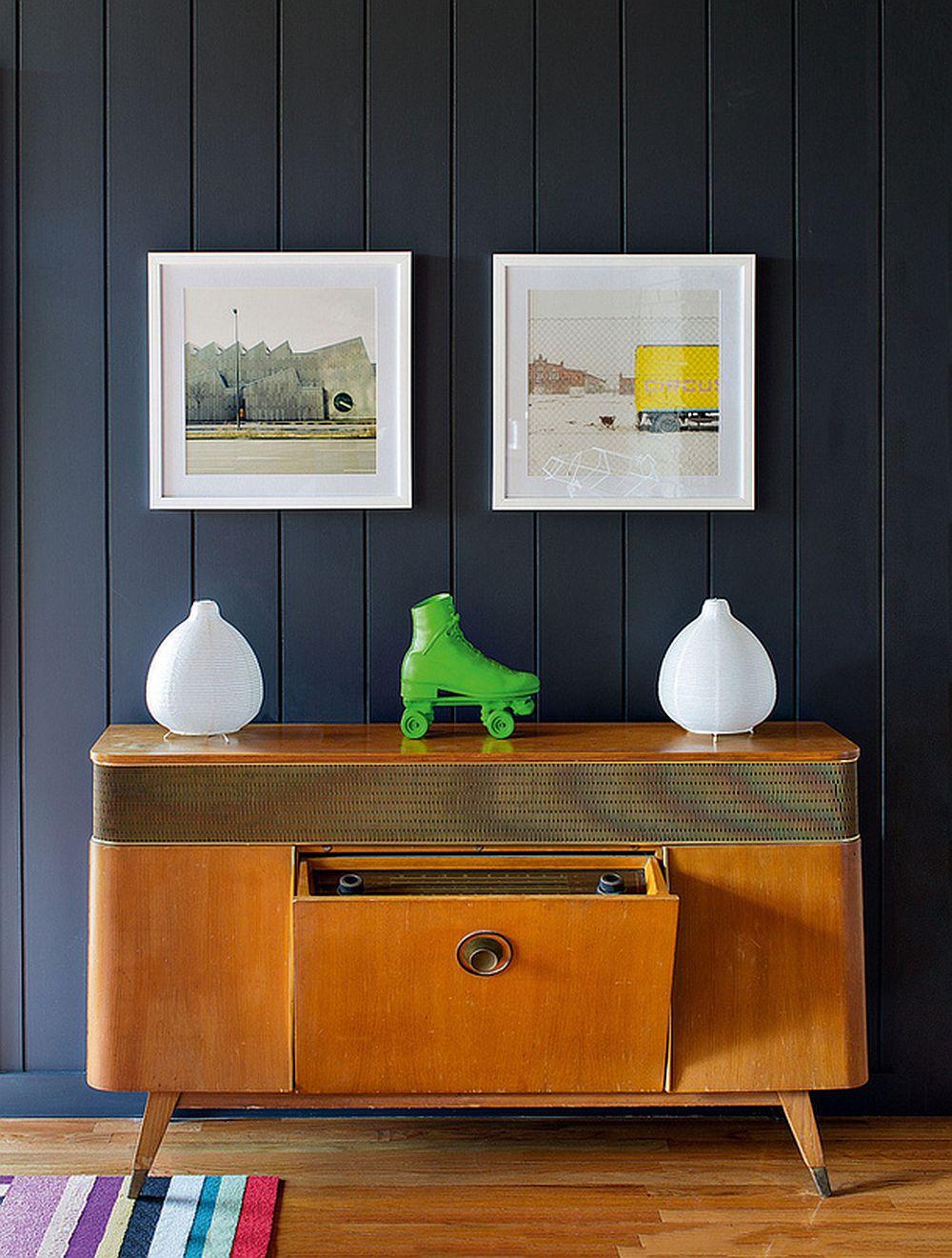 adelaparvu.com despre cabana cu interior colorat si piese de design, casa americana, designer Bradford Shellhammer, Foto Trevor Tondro (4)