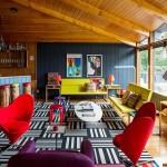 adelaparvu.com despre cabana cu interior colorat si piese de design, casa americana, designer Bradford Shellhammer, Foto Trevor Tondro (7)