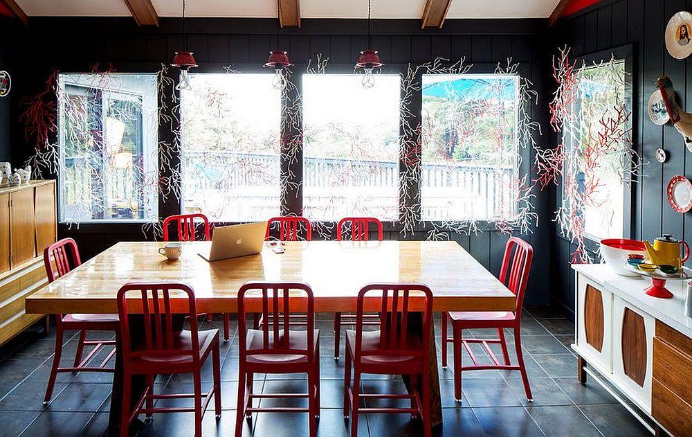 adelaparvu.com despre cabana cu interior colorat si piese de design, casa americana, designer Bradford Shellhammer, Foto Trevor Tondro (8)