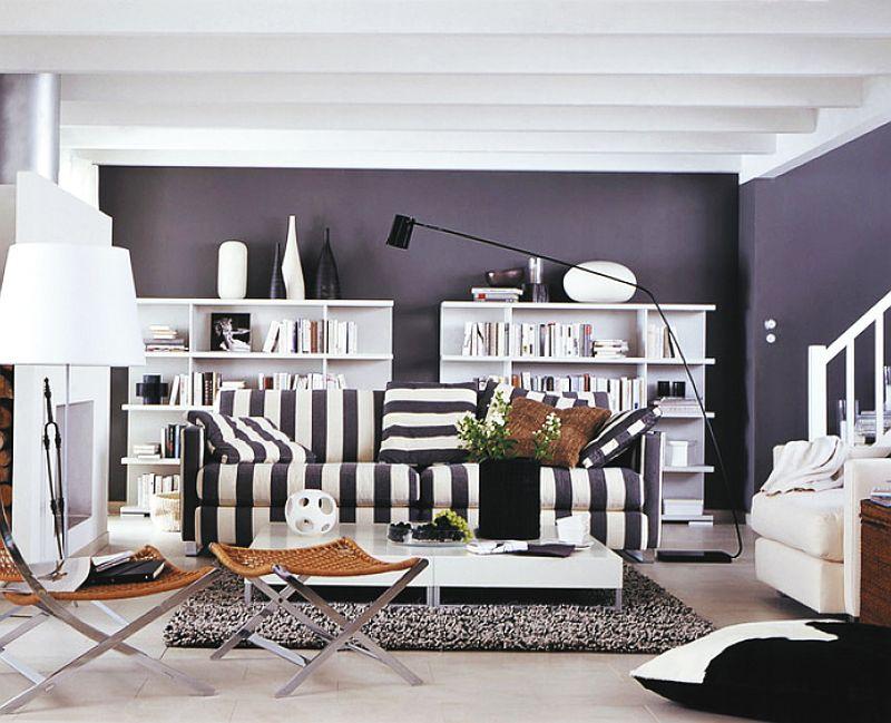 adelaparvu.com despre canapele si fotolii cu tapiterie in dungi, Foto Schoner Wohnen (2)