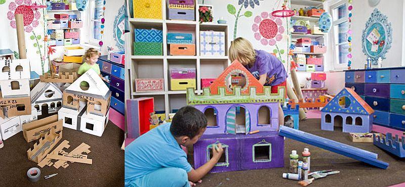 adelaparvu.com despre casa colorata, gard cu forma de creioane, interioare colorate, idei creative acasa, designer Bine Braendle (16)