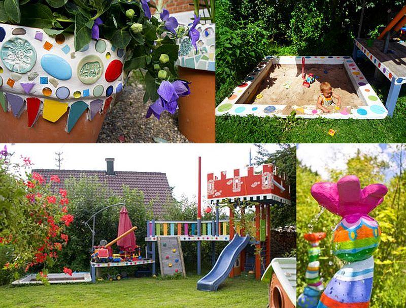 adelaparvu.com despre casa colorata, gard cu forma de creioane, interioare colorate, idei creative acasa, designer Bine Braendle (19)