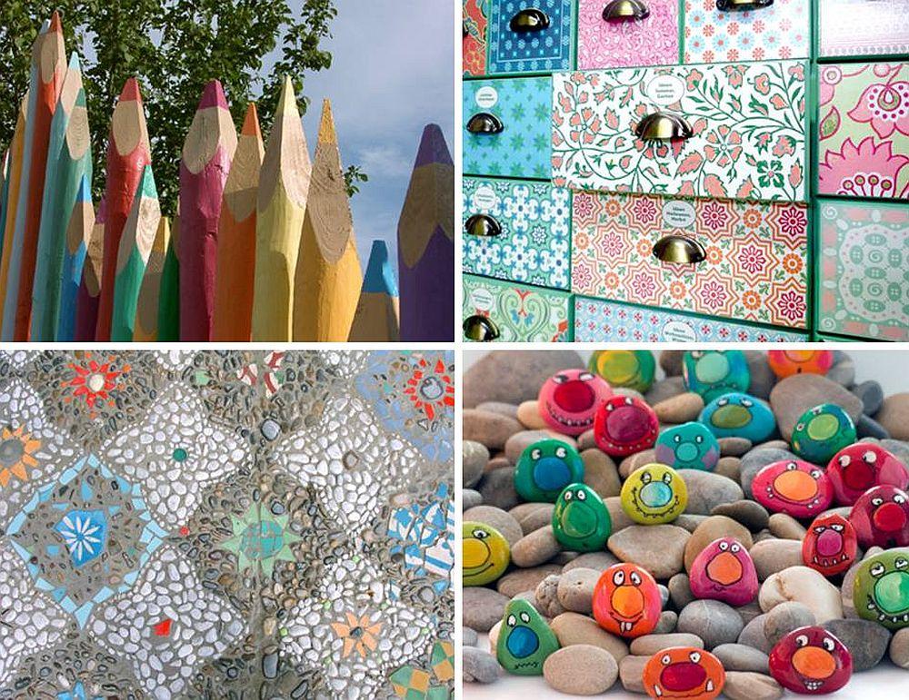 adelaparvu.com despre casa colorata, gard cu forma de creioane, interioare colorate, idei creative acasa, designer Bine Braendle (21)