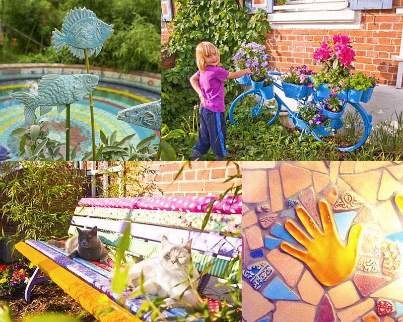 adelaparvu.com despre casa colorata, gard cu forma de creioane, interioare colorate, idei creative acasa, designer Bine Braendle (26)