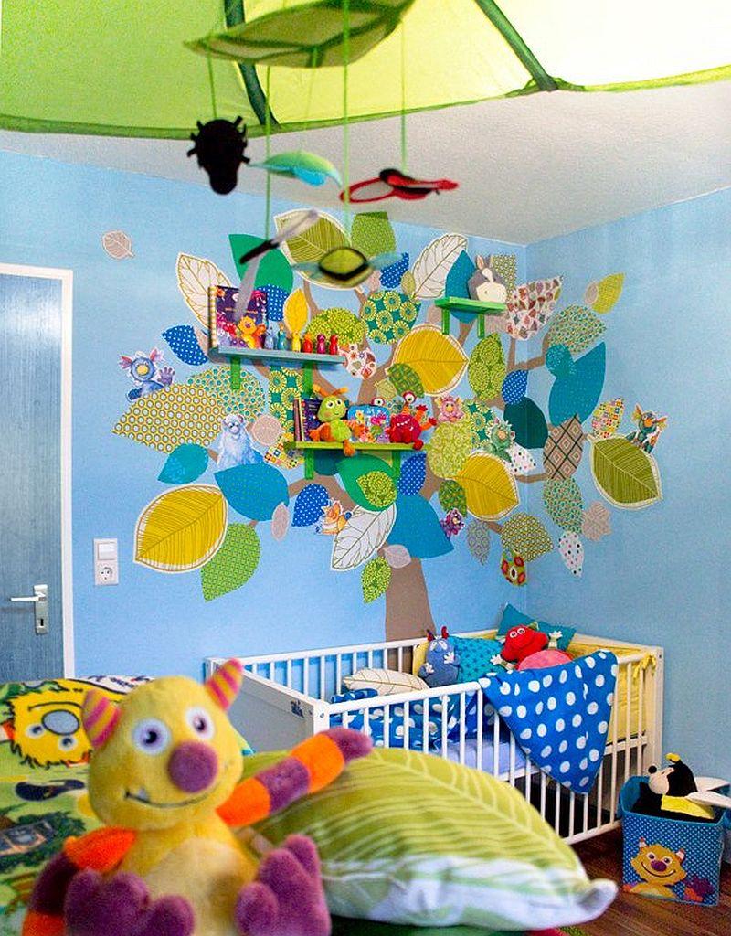 adelaparvu.com despre casa colorata, gard cu forma de creioane, interioare colorate, idei creative acasa, designer Bine Braendle (67)