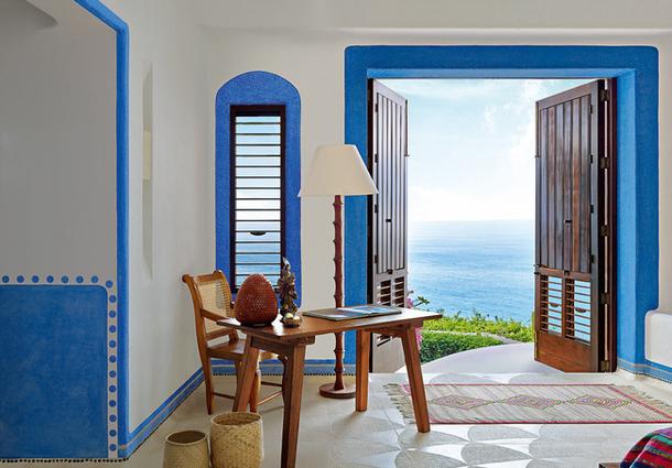 adelaparvu.com despre casa de vacanta pe malul marii cu mobilier din lut, arhitectura mexicana, arh Manuel Mestre Noriega (1)