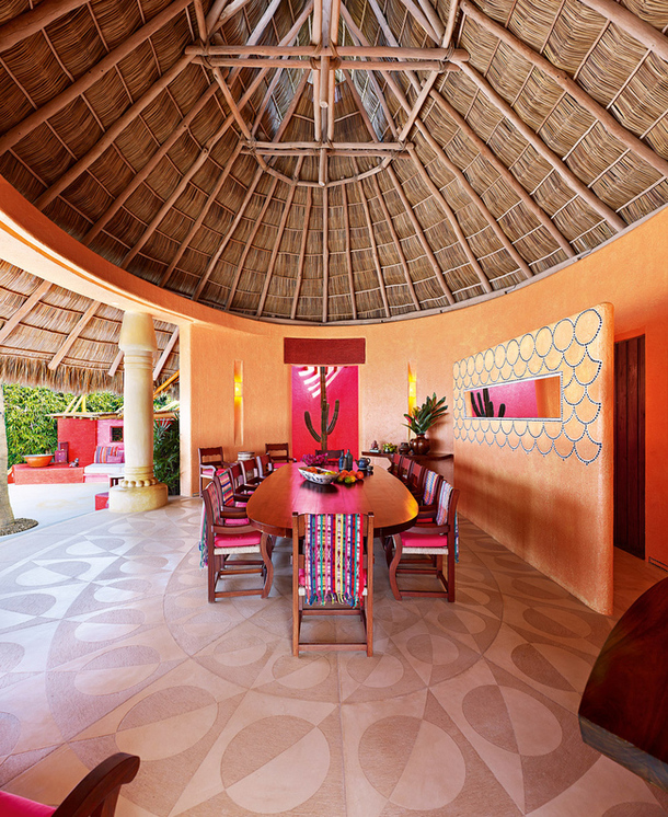 adelaparvu.com despre casa de vacanta pe malul marii cu mobilier din lut, arhitectura mexicana, arh Manuel Mestre Noriega (6)