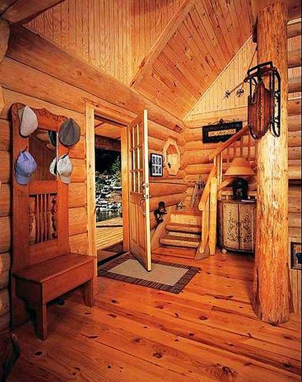 adelaparvu.com despre casa din barne, casa americana, casa in Carolina de Nord, constructor BigLog Home, Foto Log Home (1)