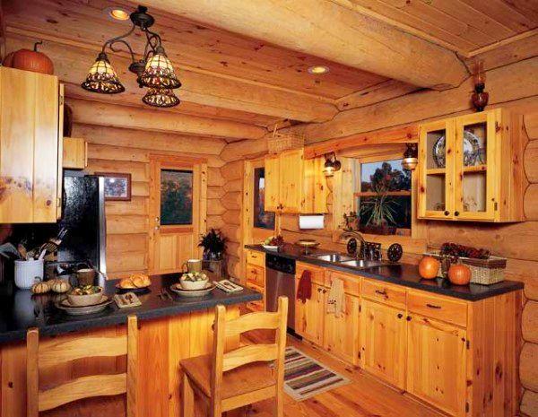 adelaparvu.com despre casa din barne, casa americana, casa in Carolina de Nord, constructor BigLog Home, Foto Log Home (3)