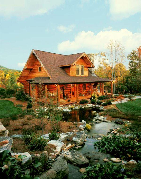 adelaparvu.com despre casa din barne, casa americana, casa in Carolina de Nord, constructor BigLog Home, Foto Log Home (4)
