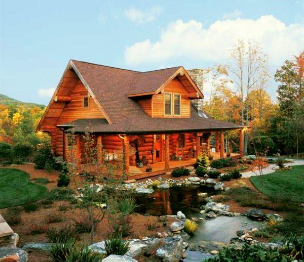 adelaparvu.com despre casa din barne, casa americana, casa in Carolina de Nord, constructor BigLog Home, Foto Log Home (5)
