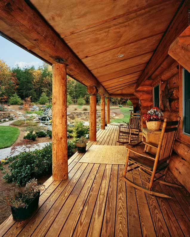 adelaparvu.com despre casa din barne, casa americana, casa in Carolina de Nord, constructor BigLog Home, Foto Log Home (6)